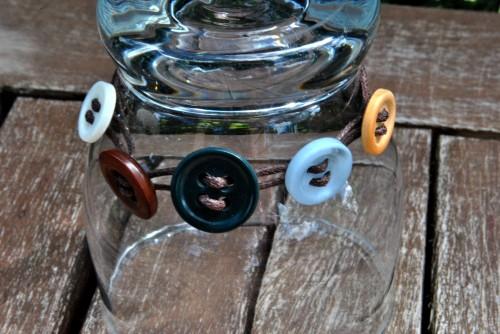 Vintage Button Boho Bracelet