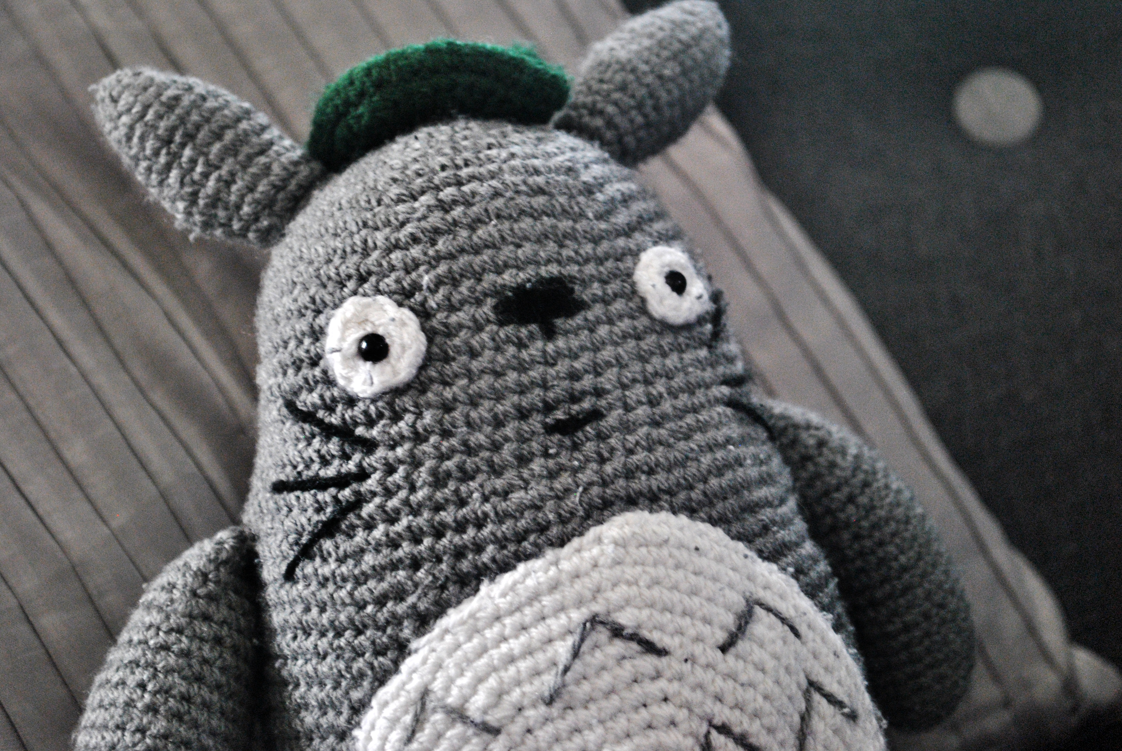 Studio ghibli blog about crochet amigurumi and drinking tea this one was made for a who had recently moved into his own flat as a hardcore ghibli fan i knew it would take pride of place in his new abode bankloansurffo Images