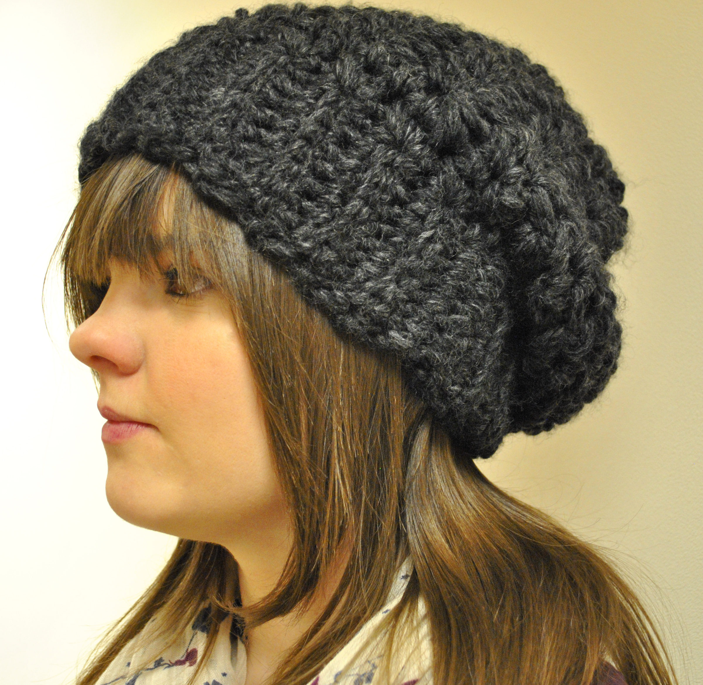 Crochet slouchy hat – FREE Pattern – Crochet and Tea – Blog about ... f11cb243e00